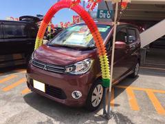 沖縄の中古車 三菱 eKワゴン 車両価格 73万円 リ済込 平成25年 6.8万K ブラウンM