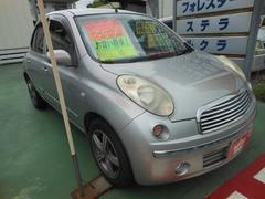 沖縄の中古車 日産 マーチ 車両価格 23万円 リ済込 平成19年 13.4万K シルバー