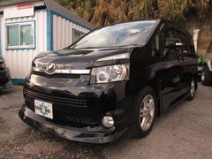 沖縄の中古車 トヨタ ヴォクシー 車両価格 48万円 リ済込 平成20年 17.4万K ブラックM