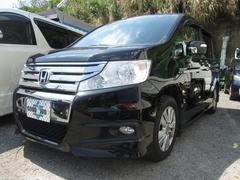 沖縄の中古車 ホンダ ステップワゴンスパーダ 車両価格 54万円 リ済込 平成22年 19.1万K プレミアムブラキッシュパール