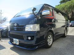 沖縄の中古車 トヨタ ハイエースバン 車両価格 82万円 リ済込 平成19年 24.9万K ダークブルーM