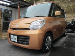 沖縄の中古車 スズキ スペーシア 車両価格 56万円 リ済込 平成25年 11.8万K キャンドルオレンジM