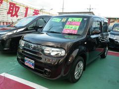 沖縄の中古車 日産 キューブ 車両価格 68万円 リ済込 平成22年 8.6万K ブラウン