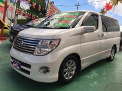 沖縄の中古車 日産 エルグランド 車両価格 67万円 リ済込 平成17年 9.6万K ホワイト