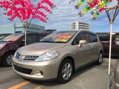 沖縄の中古車 日産 ティーダ 車両価格 69万円 リ済込 平成22年 4.8万K シャンパンゴールド