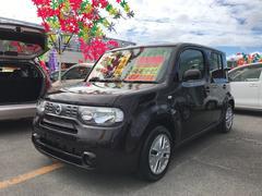 沖縄の中古車 日産 キューブ 車両価格 52万円 リ済込 平成24年 8.3万K ブラウン