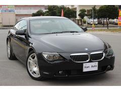 BMW645Ci ディーラー車黒革 サンルーフ 純正ナビ クルコン