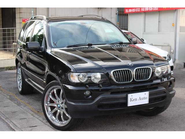 BMW X5 3.0iディーラー車 サンルーフ 社外HDDナビCD...
