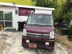 沖縄市 ゆいCars4丁目店 スズキ エブリイワゴン PZターボ 内地物 パワースライド キーレス ワイン 14.5万K 平成18年