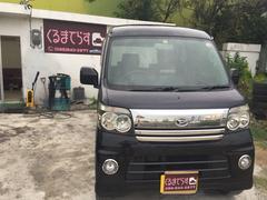 沖縄の中古車 ダイハツ アトレーワゴン 車両価格 40万円 リ済込 平成18年 11.2万K ブラックマイカ