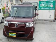 沖縄の中古車 ホンダ N BOX 車両価格 53万円 リ済込 平成24年 13.8万K プレミアムディープロッソパール
