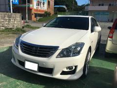 沖縄の中古車 トヨタ クラウンハイブリッド 車両価格 148万円 リ済込 平成20年 8.3万K ホワイトパールクリスタルシャイン