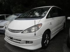 沖縄の中古車 トヨタ エスティマ 車両価格 25万円 リ済込 平成15年 7.5万K パールホワイト