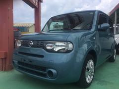沖縄の中古車 日産 キューブ 車両価格 58万円 リ済込 平成22年 5.8万K アッシュブルー