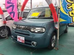 沖縄の中古車 日産 キューブ 車両価格 70万円 リ済込 平成24年 7.3万K ライトブルー
