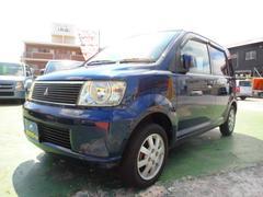 沖縄の中古車 三菱 eKワゴン 車両価格 21万円 リ済込 平成15年 3.4万K ダークブルーマイカ