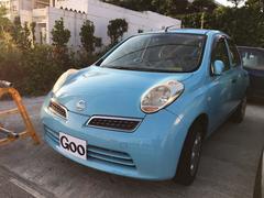 沖縄の中古車 日産 マーチ 車両価格 19万円 リ済込 平成20年 6.1万K ライトブルー