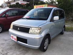 沖縄の中古車 三菱 eKワゴン 車両価格 14万円 リ済込 平成14年 13.5万K シルバー