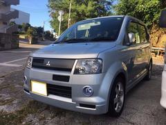 沖縄の中古車 三菱 eKスポーツ 車両価格 18万円 リ済込 平成15年 11.9万K ライトブルーメタリック