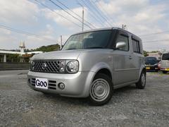 沖縄の中古車 日産 キューブ 車両価格 34万円 リ済込 平成18年 8.2万K ダイヤモンドシルバーM