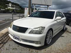 沖縄の中古車 トヨタ クラウン 車両価格 55万円 リ済込 平成16年 14.5万K ホワイト