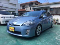 沖縄の中古車 トヨタ プリウス 車両価格 114万円 リ済込 平成23年 7.3万K ライトブルーM