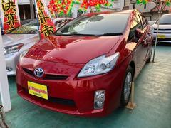 沖縄の中古車 トヨタ プリウス 車両価格 89万円 リ済込 平成23年 8.4万K レッドM
