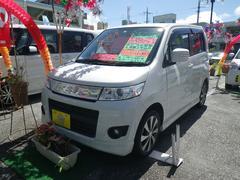 沖縄の中古車 スズキ ワゴンRスティングレー 車両価格 73万円 リ済込 平成24年 5.3万K パールホワイト