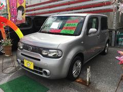 沖縄の中古車 日産 キューブ 車両価格 56万円 リ済込 平成24年 8.1万K シルバー