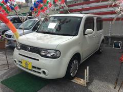 沖縄の中古車 日産 キューブ 車両価格 66万円 リ済込 平成23年 4.9万K パールホワイト