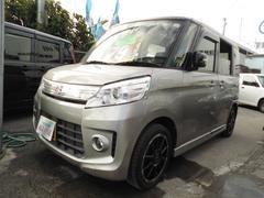 沖縄の中古車 スズキ スペーシアカスタム 車両価格 69万円 リ済込 平成26年 9.1万K グレーII