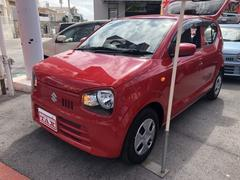 沖縄の中古車 スズキ アルト 車両価格 79万円 リ済込 平成28年 0.4万K レッド