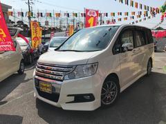 沖縄の中古車 ホンダ ステップワゴンスパーダ 車両価格 155万円 リ済別 平成23年 7.3万K パールホワイト