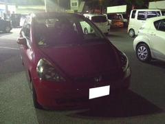 沖縄の中古車 ホンダ フィット 車両価格 19.8万円 リ済込 平成15年 5.3万K レッド