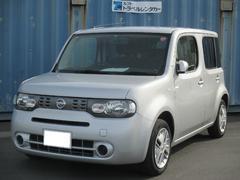 沖縄の中古車 日産 キューブ 車両価格 59.8万円 リ済込 平成25年 7.8万K ブリリアントシルバーM