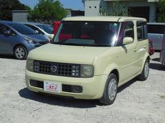 沖縄の中古車 日産 キューブ 車両価格 15万円 リ済別 平成15年 9.1万K クリーム
