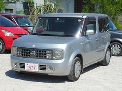 沖縄の中古車 日産 キューブ 車両価格 15万円 リ済別 平成15年 9.8万K シルバー