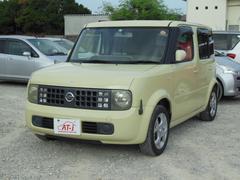 沖縄の中古車 日産 キューブ 車両価格 15万円 リ済別 平成15年 8.3万K クリームホワイト