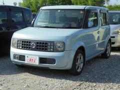 沖縄の中古車 日産 キューブ 車両価格 15万円 リ済別 平成15年 7.4万K エアブルーPM