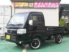 沖縄の中古車 ホンダ アクティトラック 車両価格 94万円 リ済込 平成28年 0.4万K ブラック