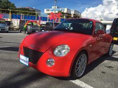 沖縄の中古車 ダイハツ コペン 車両価格 58万円 リ済込 平成15年 15.0万K レッド