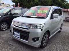 沖縄の中古車 スズキ ワゴンRスティングレー 車両価格 48万円 リ済込 平成21年 10.1万K シルキーシルバーメタリック