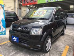 沖縄の中古車 日産 オッティ 車両価格 24万円 リ済込 平成17年 8.4万K ブラック