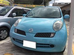 沖縄の中古車 日産 マーチ 車両価格 25万円 リ済込 平成19年 4.3万K パシフィックブルーPM