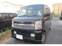 沖縄の中古車 スズキ エブリイワゴン 車両価格 49万円 リ済込 平成20年 13.6万K ブルーイッシュブラックパール3