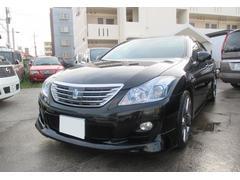 沖縄の中古車 トヨタ クラウンハイブリッド 車両価格 169万円 リ済込 平成21年 11.5万K ブラック