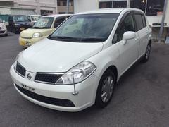 沖縄の中古車 日産 ティーダ 車両価格 39万円 リ済込 平成19年 1.6万K ホワイトM