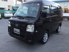 沖縄の中古車 スバル サンバーバン 車両価格 42万円 リ済込 平成22年 7.5万K ブラックパール