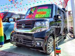 沖縄の中古車 ホンダ N BOXカスタム 車両価格 158万円 リ済別 平成29年 0.2万K ブラック