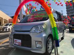 沖縄の中古車 ダイハツ タントエグゼ 車両価格 68万円 リ済別 平成22年 4.4万K ブライトシルバーメタリック